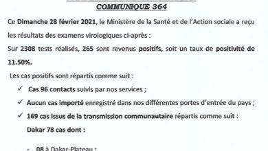 Photo of السنغال: عدد عمليات التلقيح ضد كورونا: 25653.. والاصابات 265.