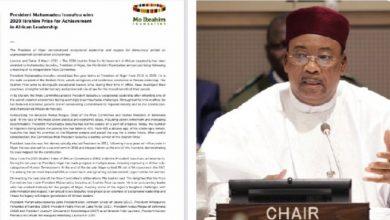 """Photo of """"النيجر"""": الرئيس """"إيسوفو"""" يفوز بأكبر جائزة نقدية للقيادة في العالم"""